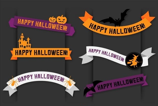 halloween-decorations-vector-banner-ribbons