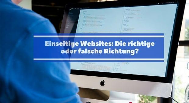 Einseitige Websites für perfekte Webpräsenz