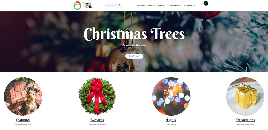 Christmas Decoration Shop Theme from MotoCMS