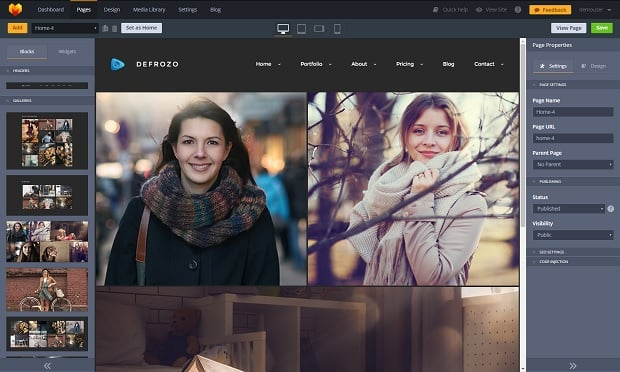defrozo-photography-portfolio-theme-admin-panel