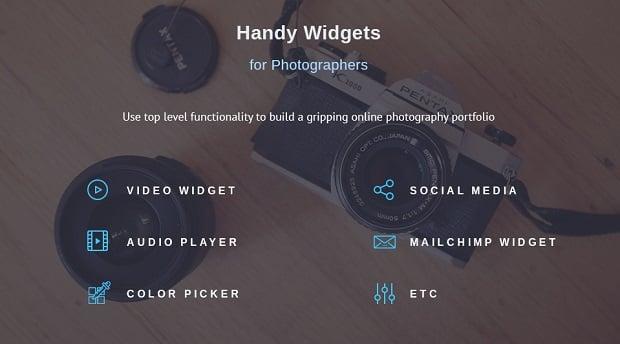 defrozo-photography-portfolio-theme-widgets
