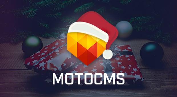 Weihnachts-Vorlage von MotoCMS schafft eine festliche Stimmung