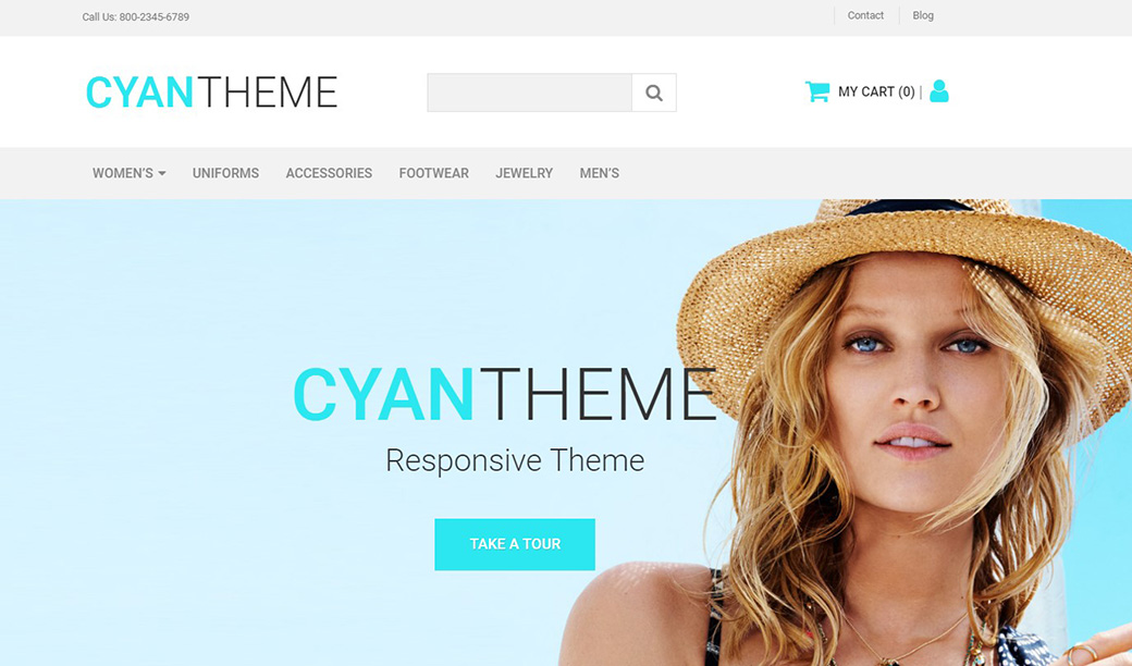 Cyan Theme Ecommerce Website Template image