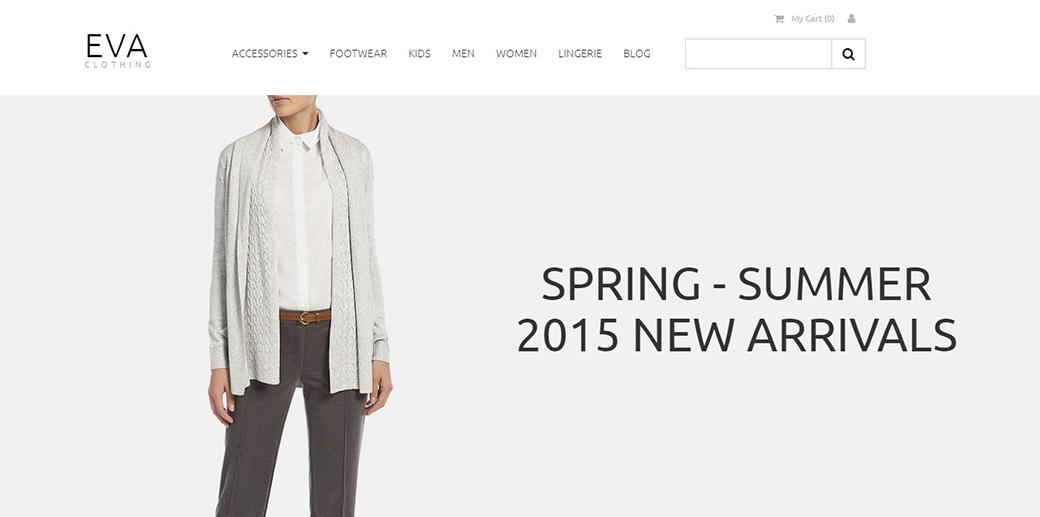 Eva Clothing Ecommerce Website Template image