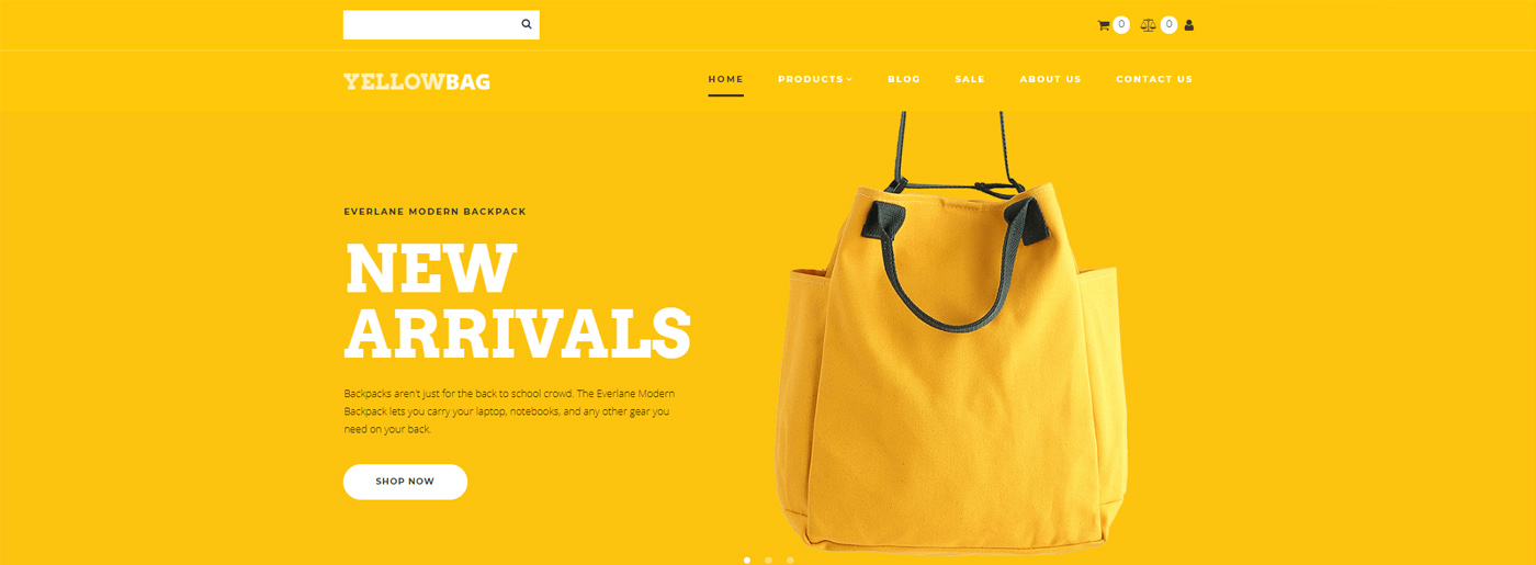 Fashion Ecommerce Website Design for Backpacks Store