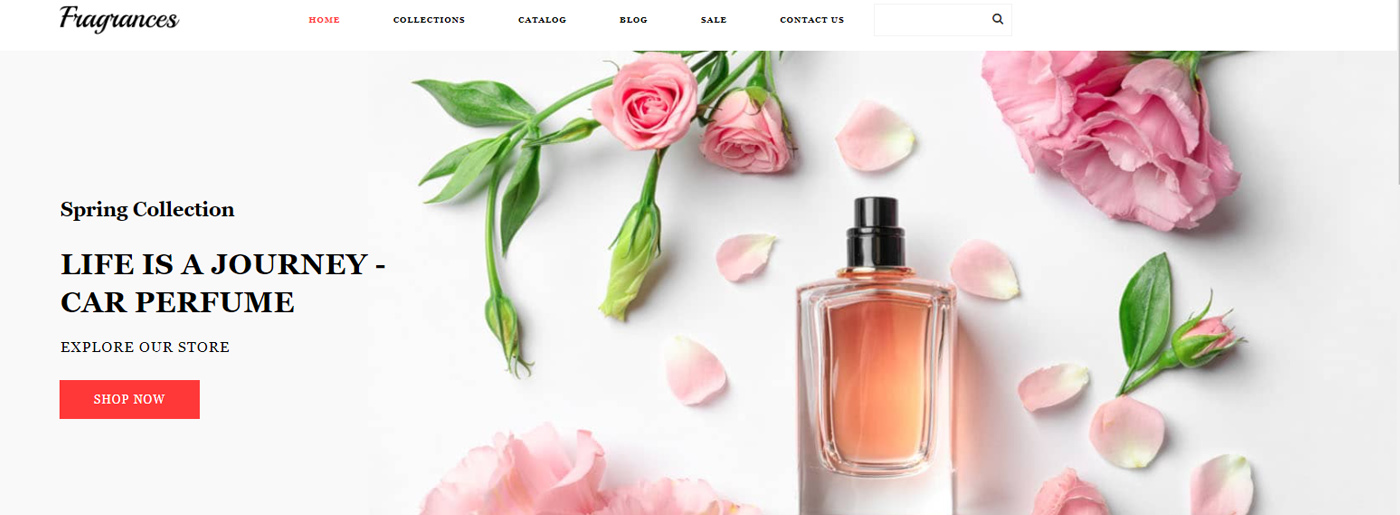 Fragrance Website Template for Perfume Store