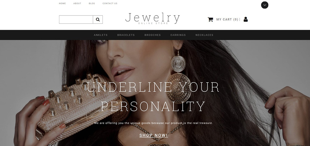 Jewelry Ecommerce Website Template image