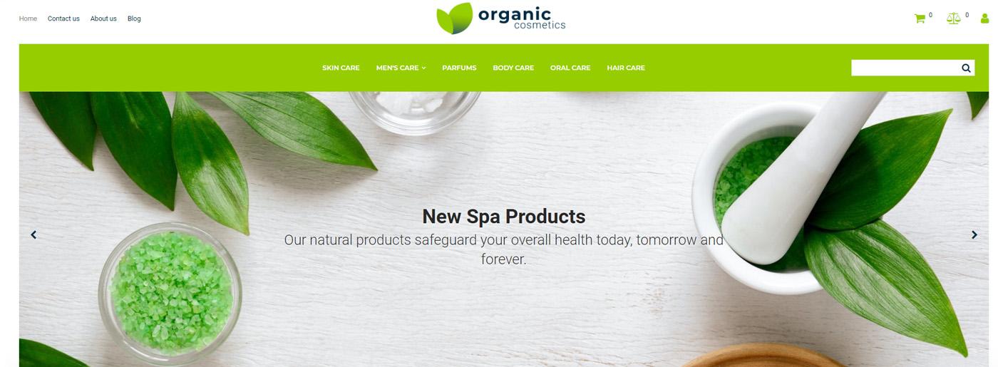 Organic Cosmetics Website Design