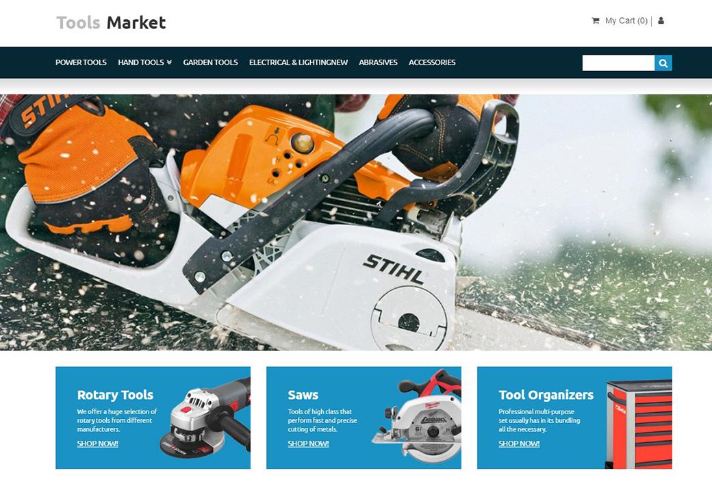 Tools Market Ecommerce Website Template image