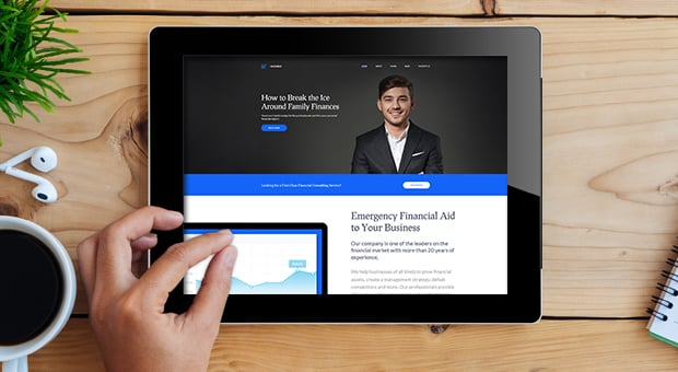 Income Financial Website Design from MotoCMS