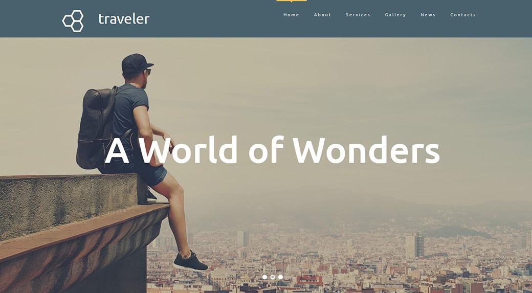 Шаблон для сайта туристического агентства хорошие шрифты