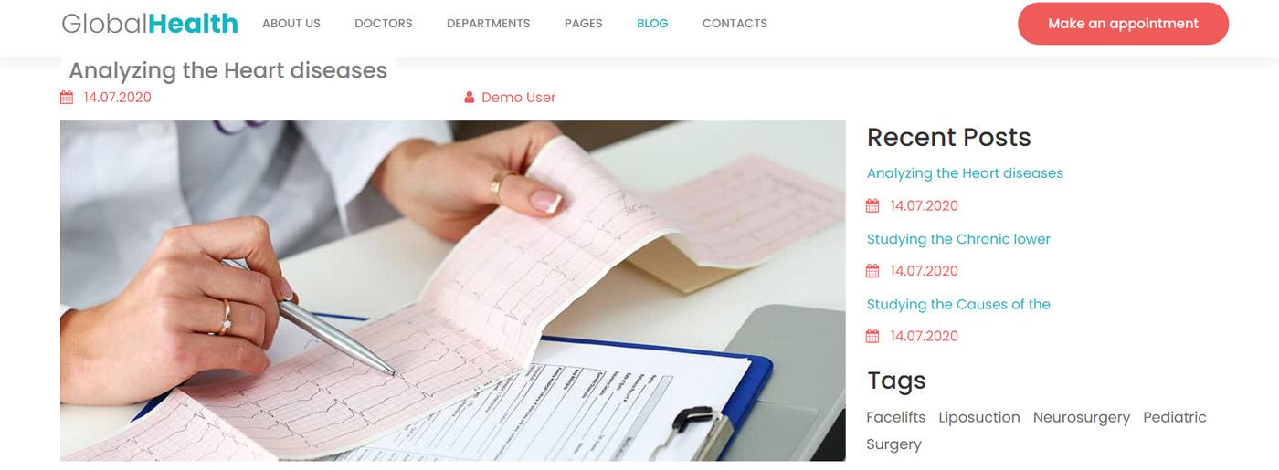 Blog for Medical Website