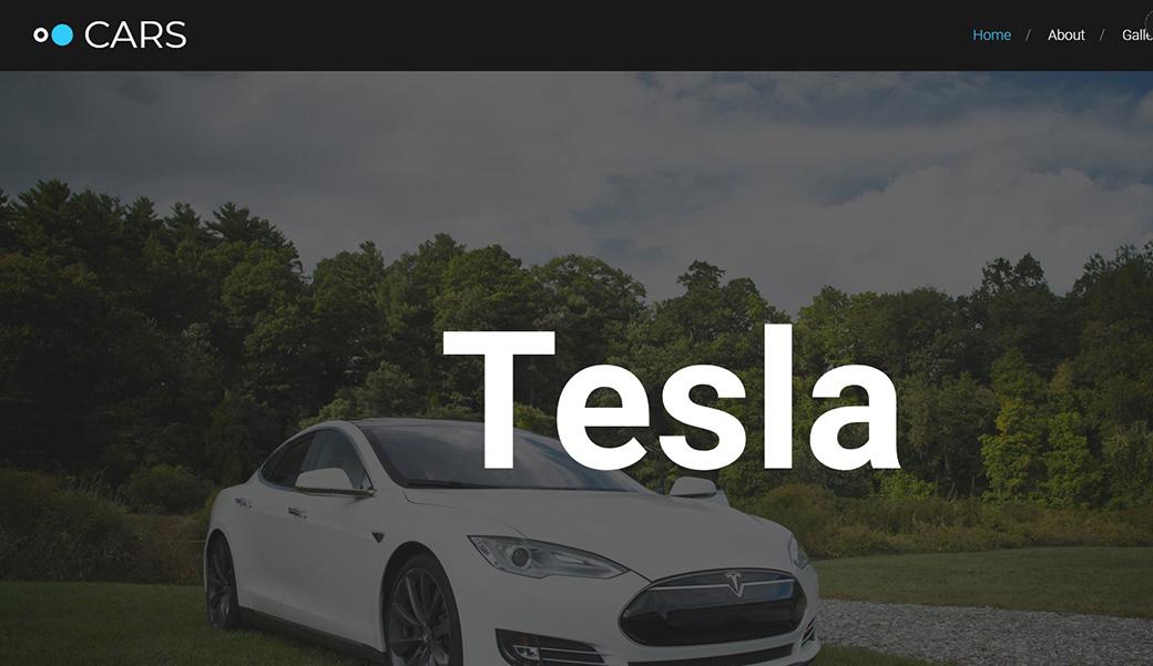 Auto Website Template