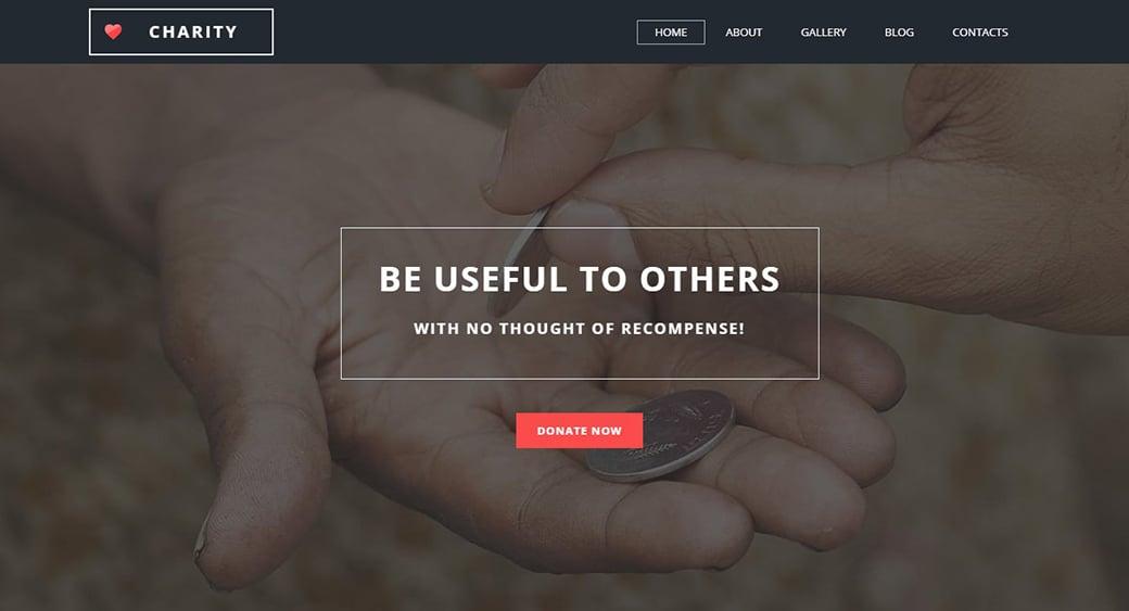 Homepage-Vorlage für Wohltätigkeitsorganisation