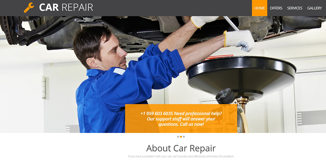 Car Service Center Website Template