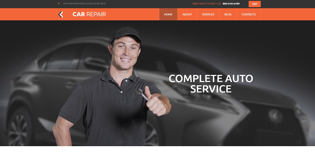 Car Web Page Design
