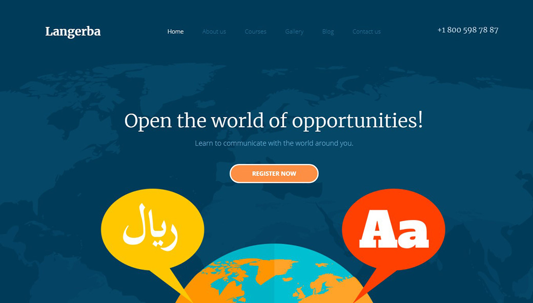 E-learning Website Template image