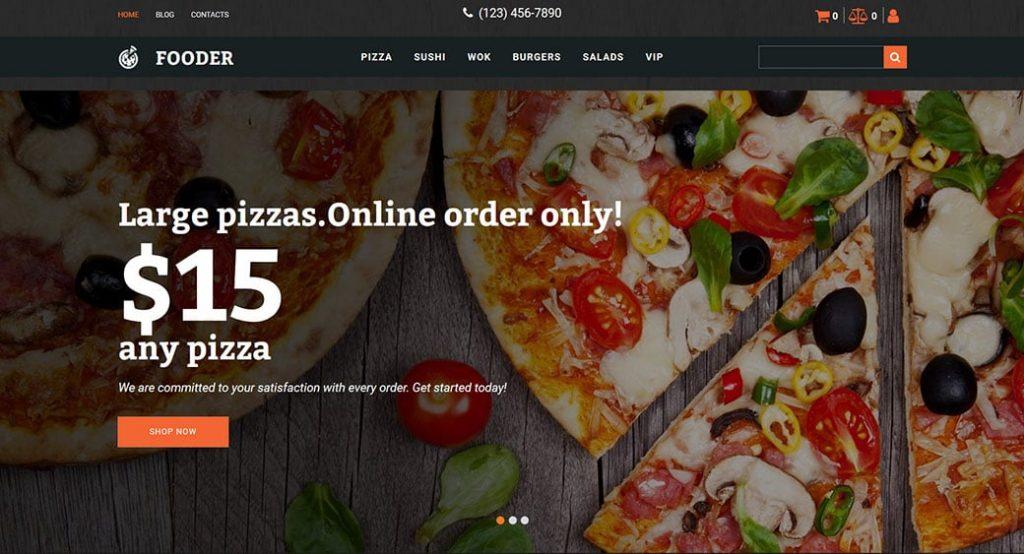 eCommerce Vorlage für einen Lebensmittel Lieferservice