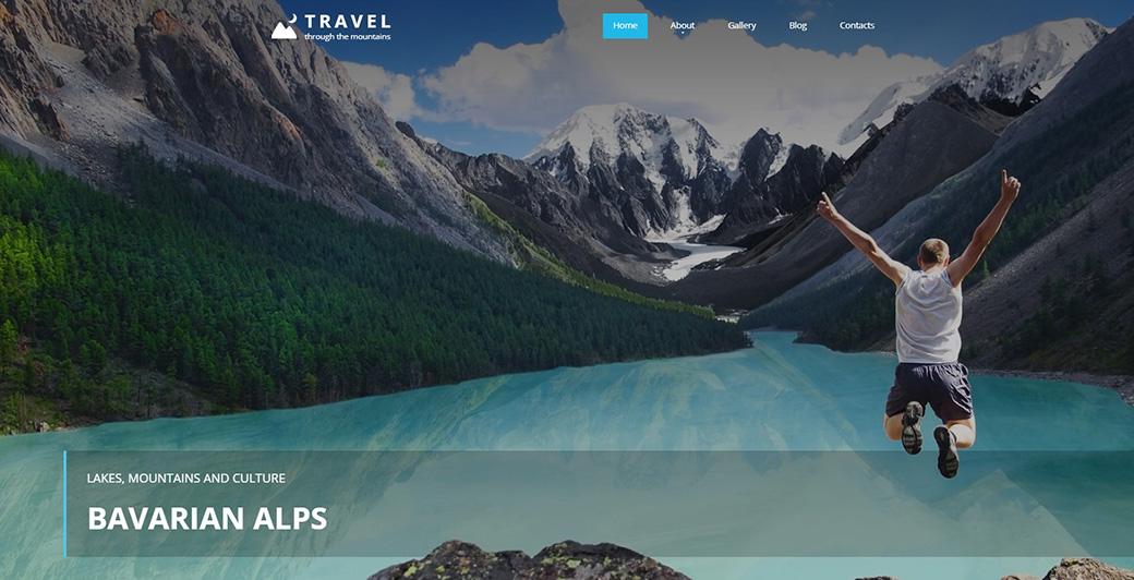 HTML шаблон для туристического агенства