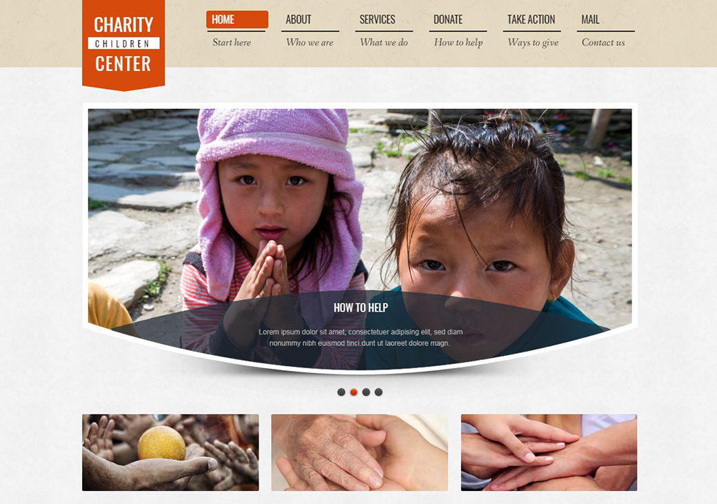 HTML шаблон сайта Charity Center изображение