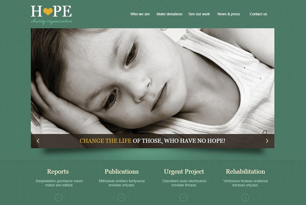 HTML шаблон сайта Hope Charity Organization изображение