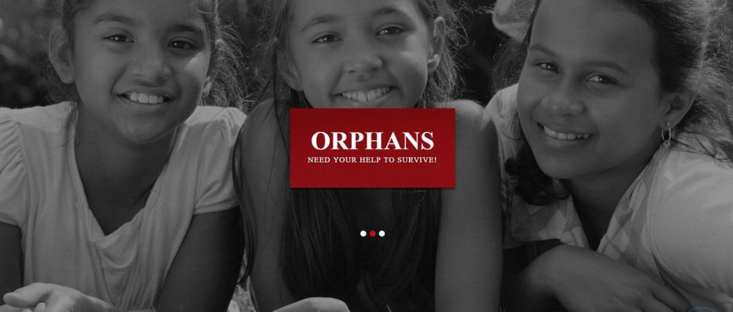 HTML шаблон сайта Orphans изображение