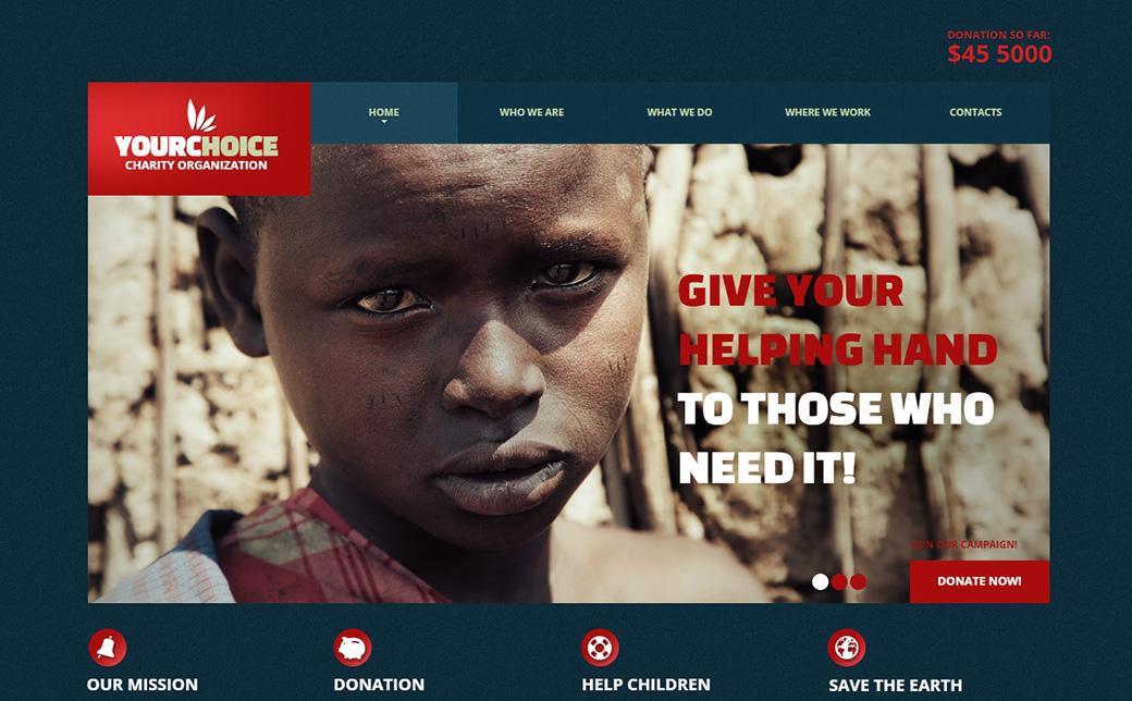 HTML шаблон сайта Your Choice изображение