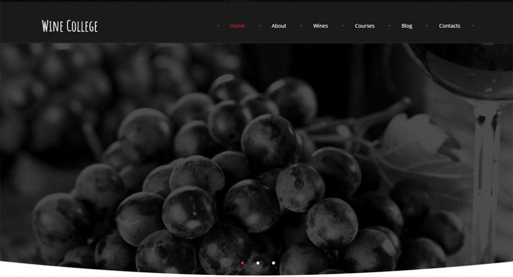 Homepage Vorlage für einen Weinclub