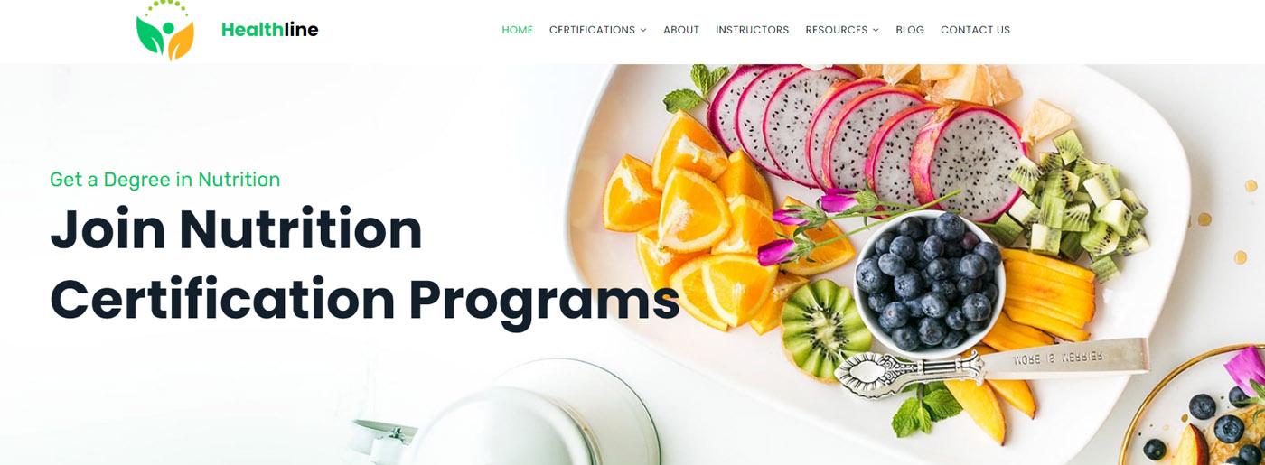 Nutrition Medical Website Design