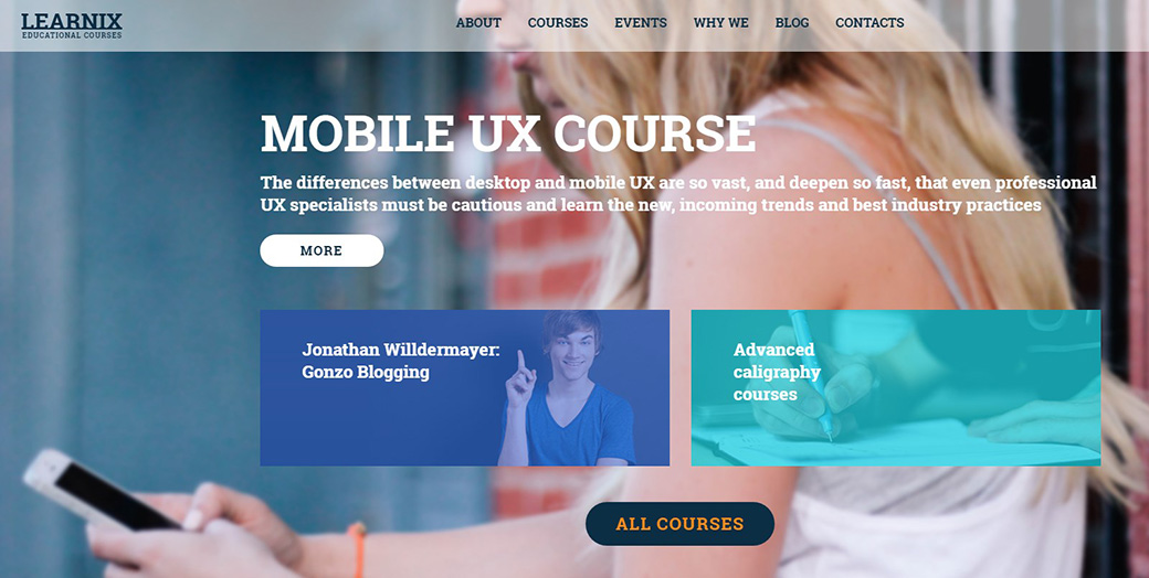 Online Learning Website Template image