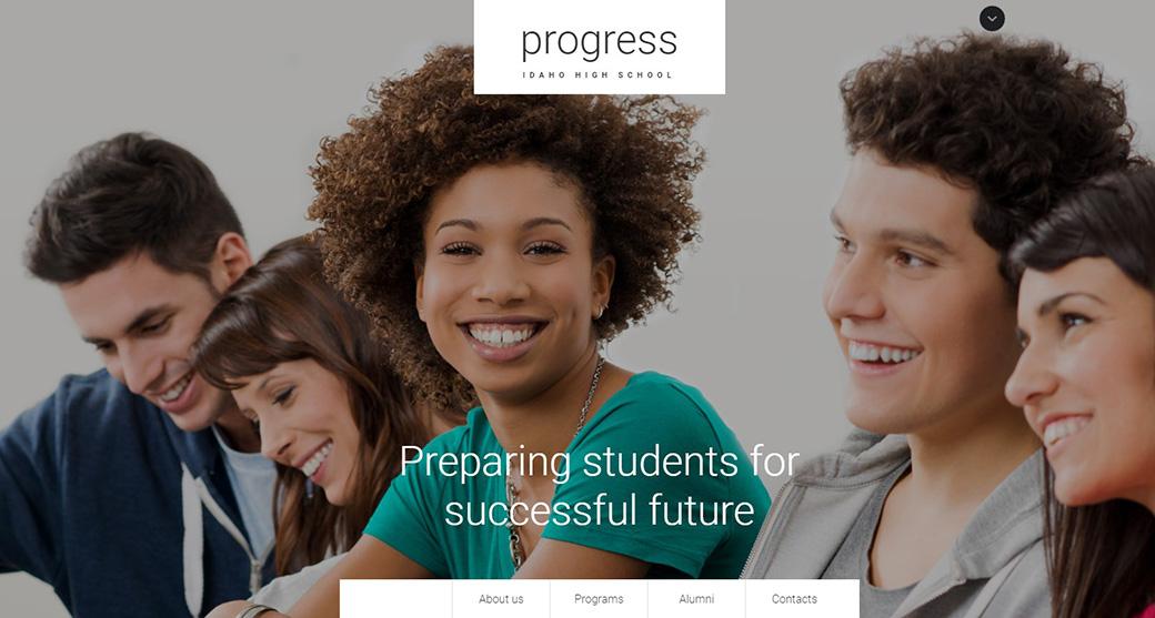 Online Training Website Template image