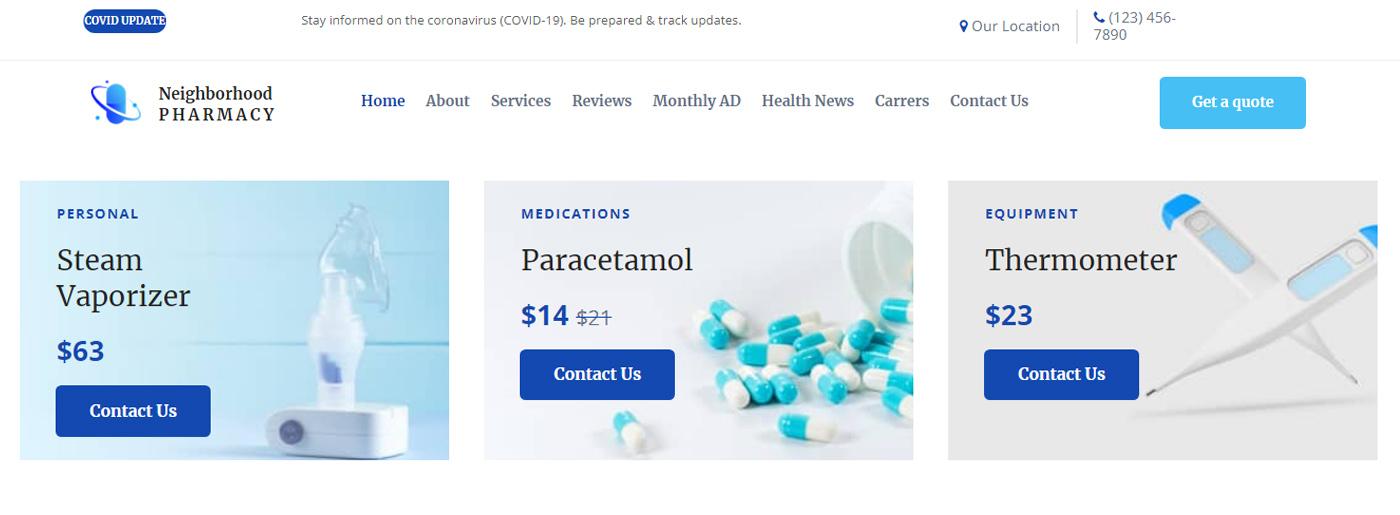 Pharmacy Site