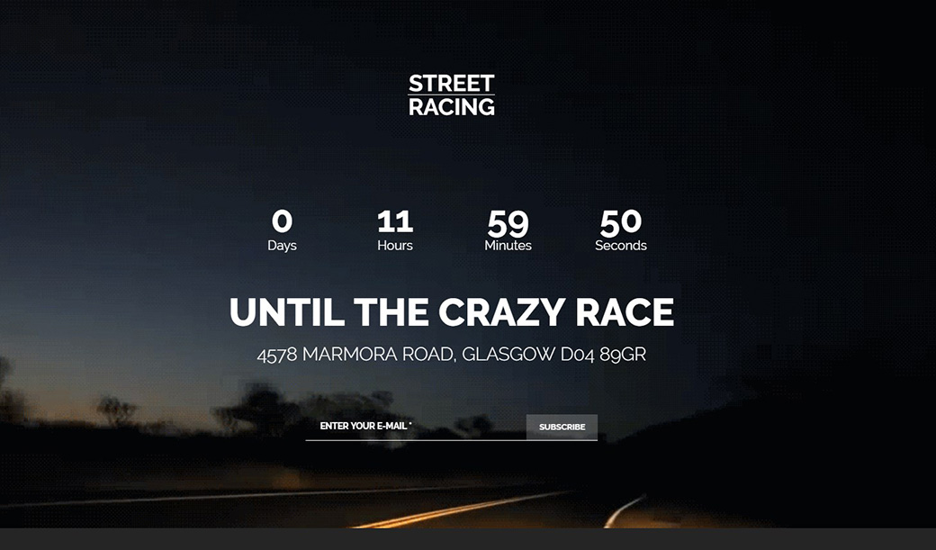 Single-Page Template for Racing Website