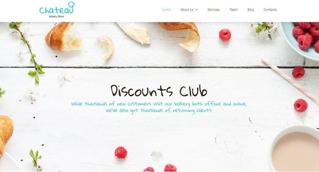 Website Vorlage für eine Traditionsbäckerei
