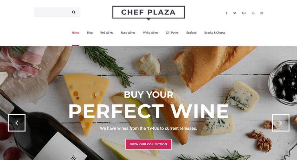 Homepage-Template für einen Feinkostladen