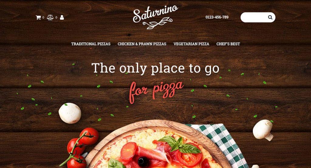 Responsive Website Vorlage für eine Pizzeria