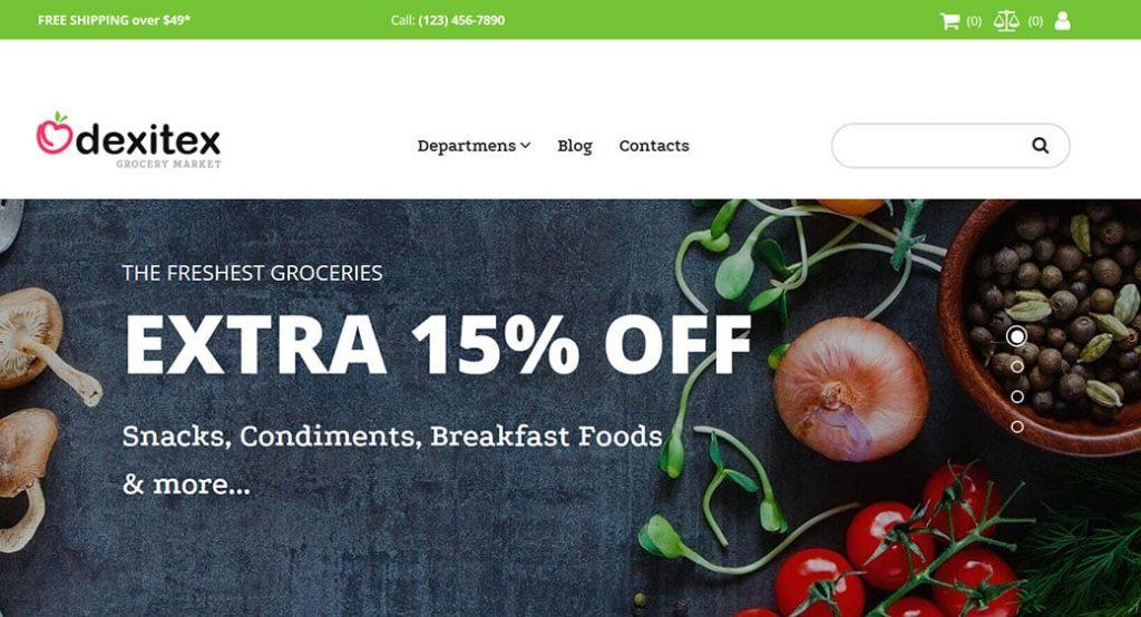 Homepage Vorlage für einen Obst und Gemüseladen