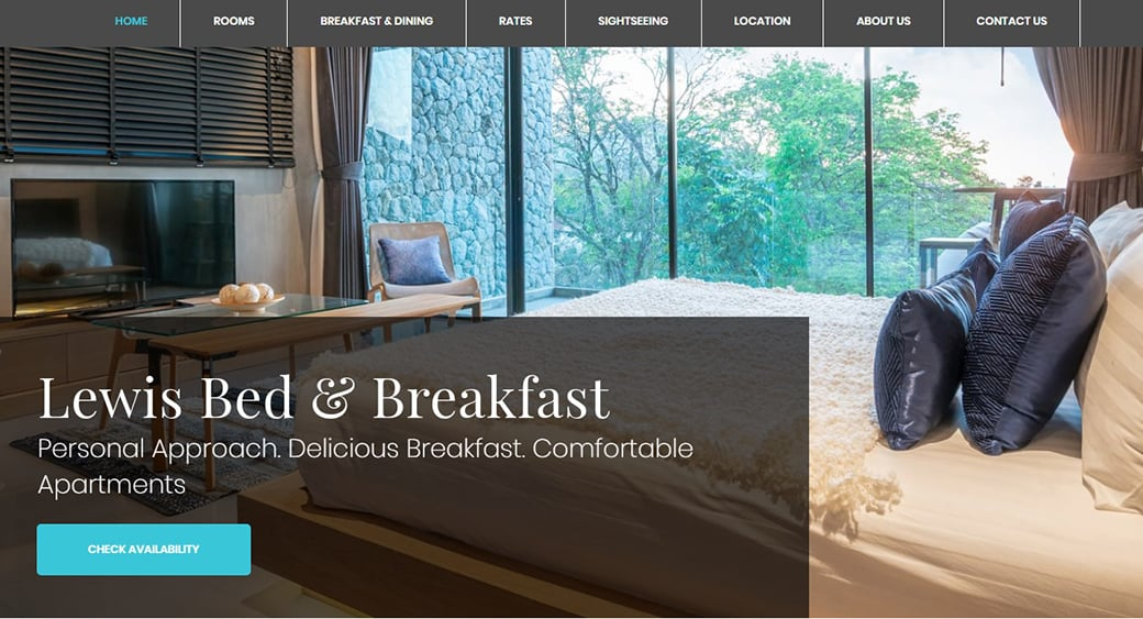 Small Hotel Website Design