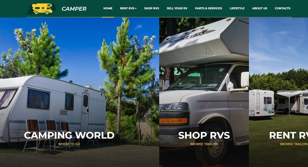 camping website