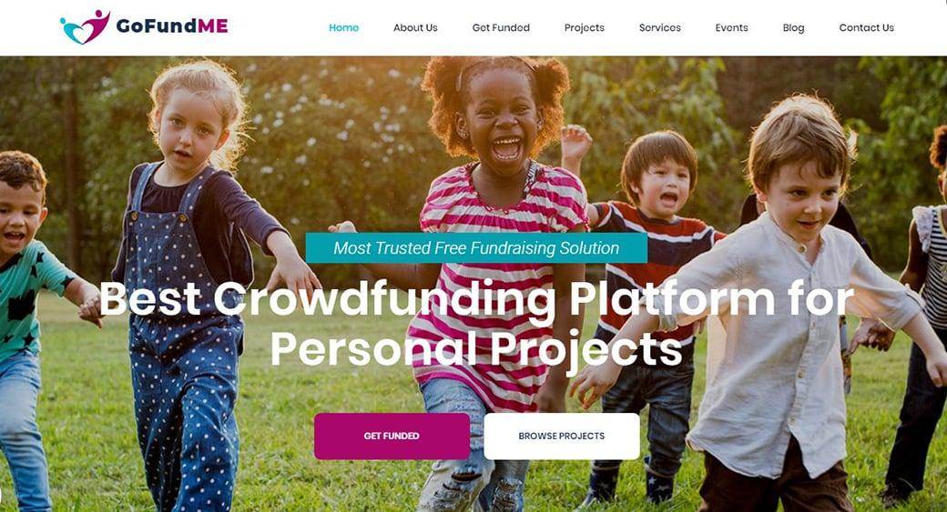 шаблон сайта благотворительности или детского дома