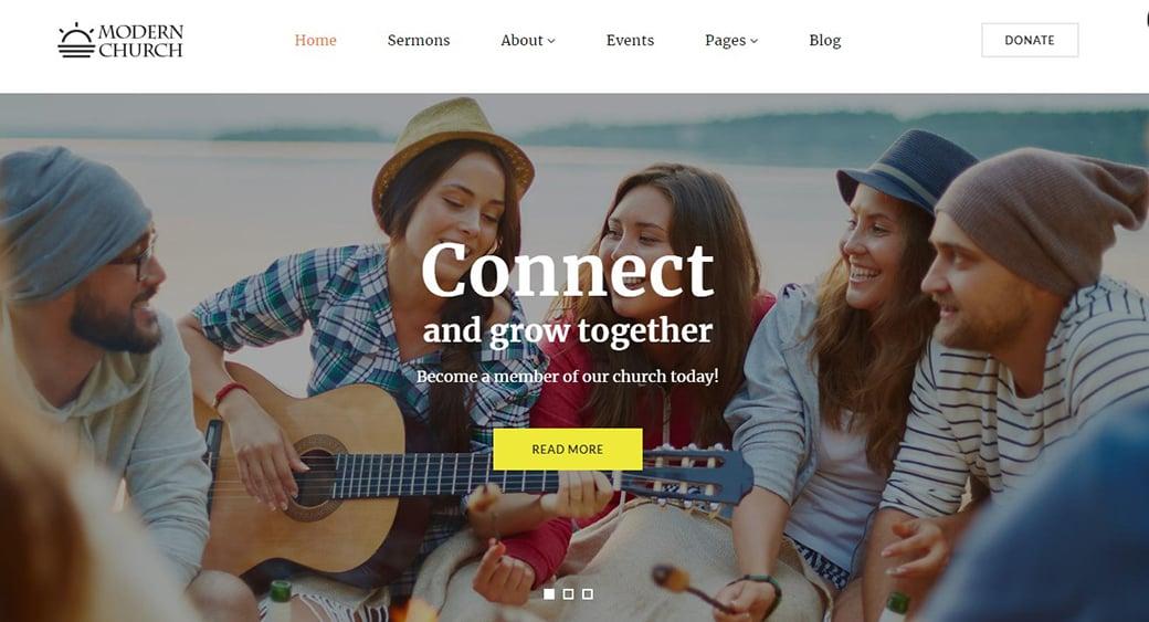 сайт религиозной или молодежной организации