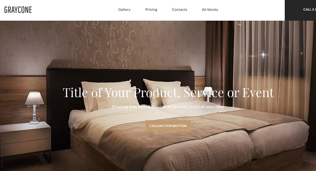 landing page for guest house