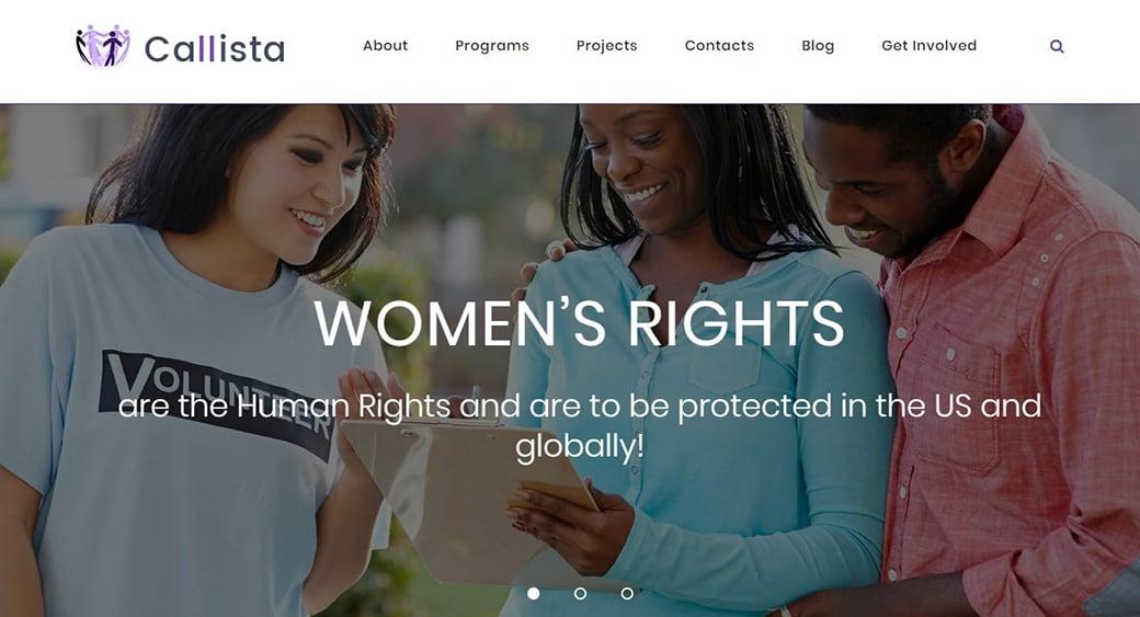 шаблон сайта организации по борьбе за права человека