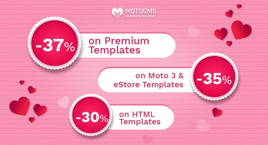 MotoCMS valentine's day sale main image