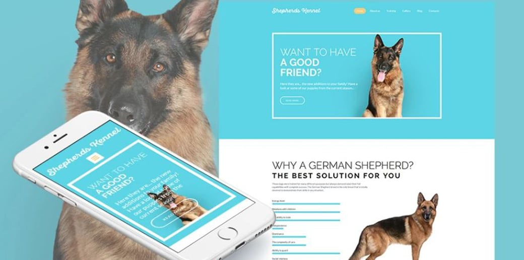 shepherd kennel create a website for dog breeders