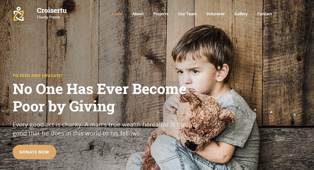 дизайн сайта приюта или благотворительной организации