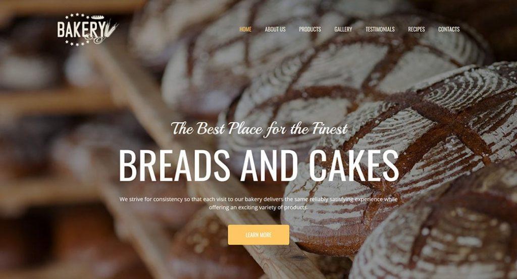 Website Vorlage für eine Lokalbäckerei