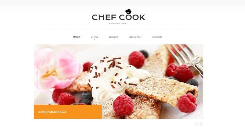 Website Vorlage für ein Restaurant mit dem Lieferservice