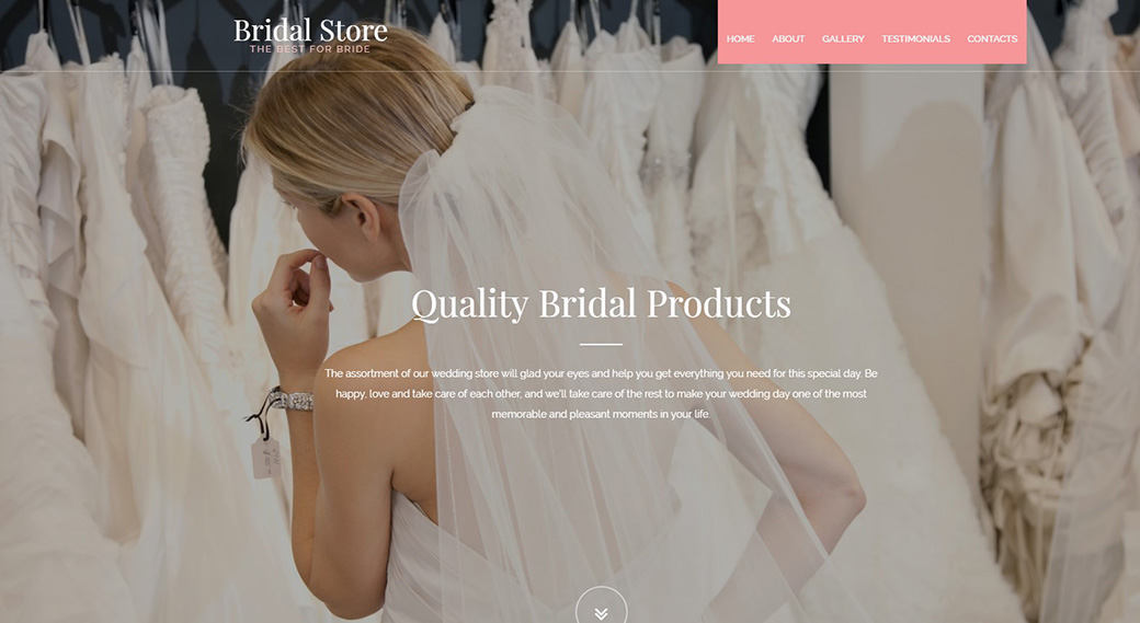 Адаптивный шаблон сайта Bridal Store