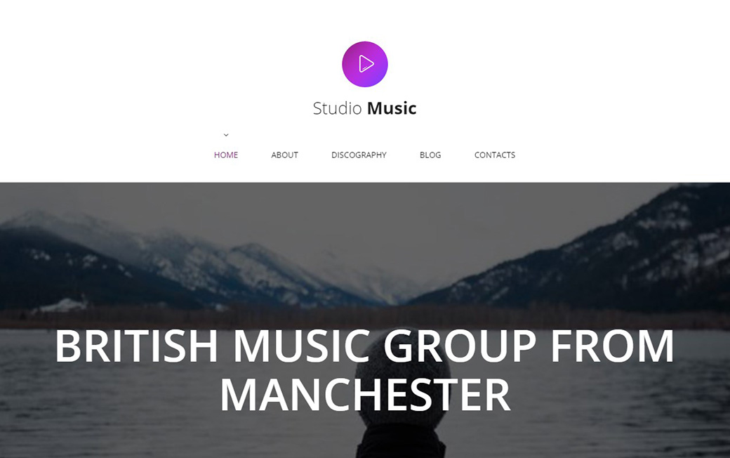 Адаптивный шаблон сайта Studio Music